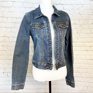 Abercrombie & Fitch zip up denim jacket
